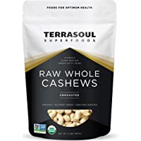 Terrasoul Superfoods Organic Raw Whole Cashews, 32 oz./2lb