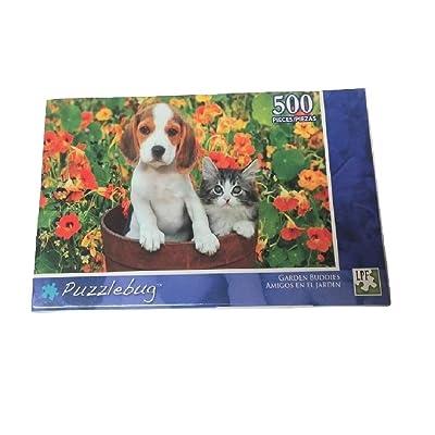 Puzzlebug 500 Piece Puzzle (Garden Buddies): Toys & Games