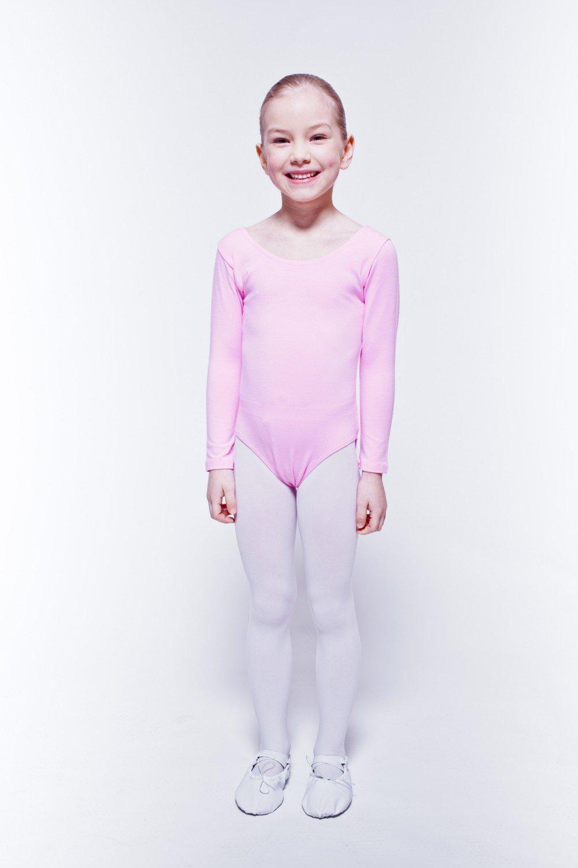 5-6 Anni tanzmuster Body da Danza Classica Lilly per Bambini in Celeste 104//110