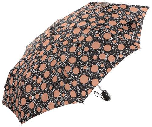 knirps-essential-black-tan-raindrop-circles-one-size