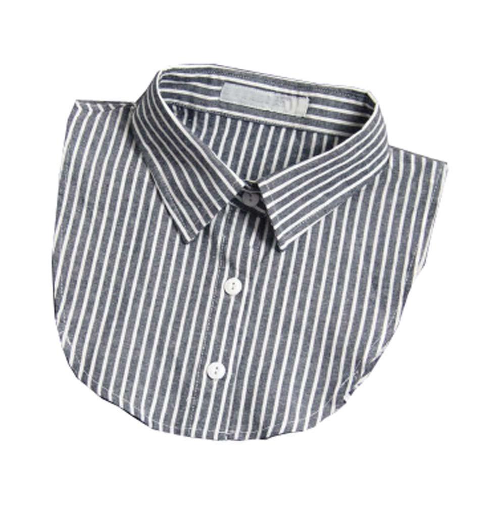 Collar desmontable de la camisa Mujeres elegantes de las muchachas del vintage falso Falso Falso Collar, B Black Temptation
