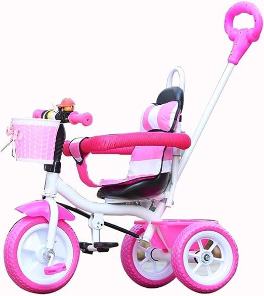 YUMEIGE triciclos Triciclo para niños con empuñadura Manual Pedal ...