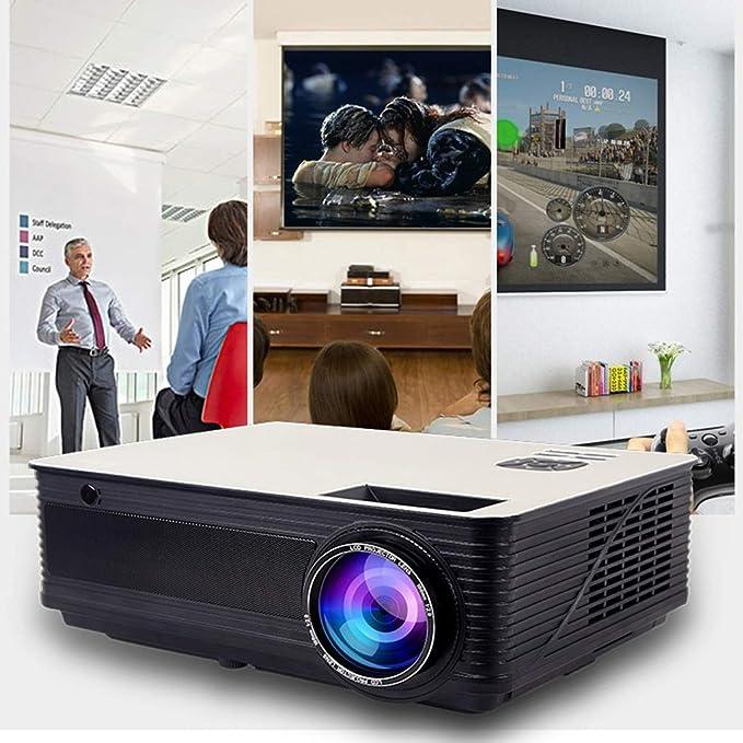 GJY Proyector para el hogar pequeña Oficina HD 1080P proyector ...