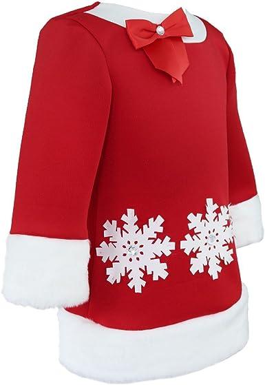 M/ütze Weihnachtskost/üm Gr 80 86 92 YiZYiF Cute Baby M/ädchen Weihnachten Bekleidung Set Warm Fleece Top Pullover Weihnachten Kleid