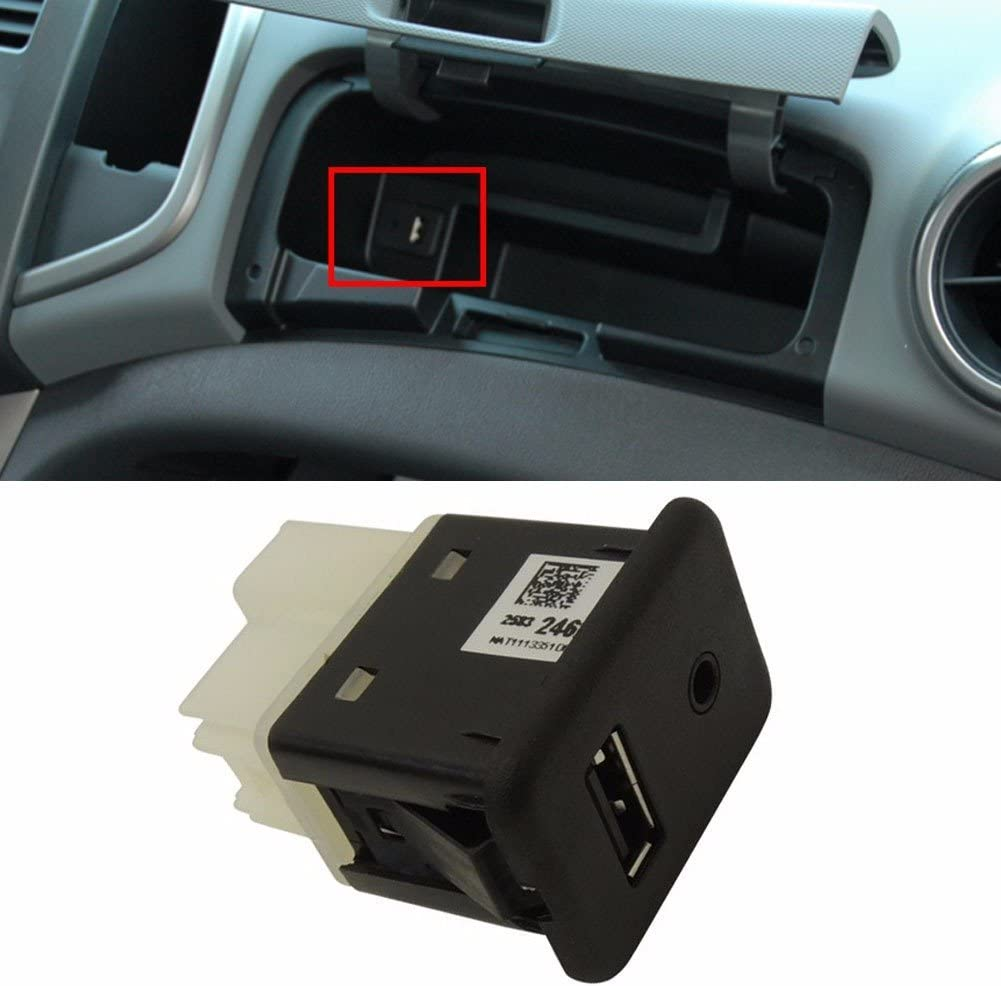 Center Console USB Socket Receptacle For OEM Parts GM Chevrolet Cruze 2008+