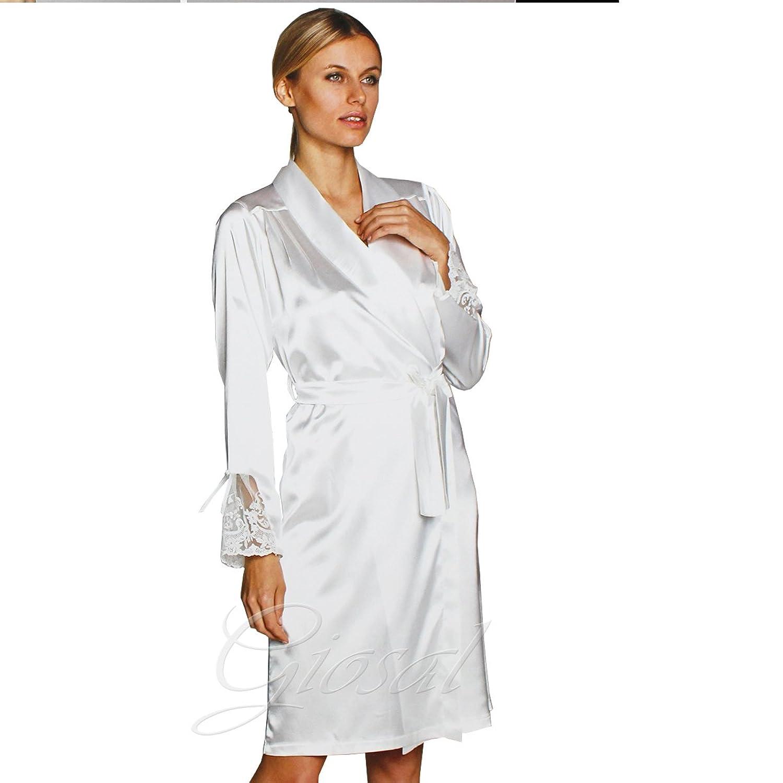 Schlafanzug Damen Schmuckset Tank Morgenmantel Nachthemd Spitze Trasparenze Lange Pierre Cardin giosal