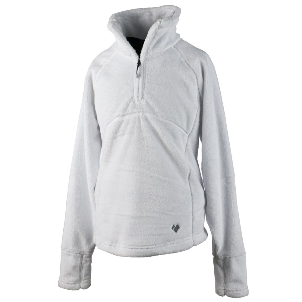 Obermeyer Girls' Furry Fleece Top White Large 37000-16010-L