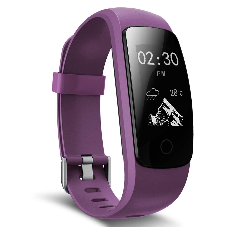 Fitness Tracker, moreFit Slim Touch Activity Tracker Orologio Cardiofrequenzimetro Impermeabile IP67 Pedometro Bluetooth Smart Braccialetto Wristband Donna Uomo Attivita Tracker per iOS Android