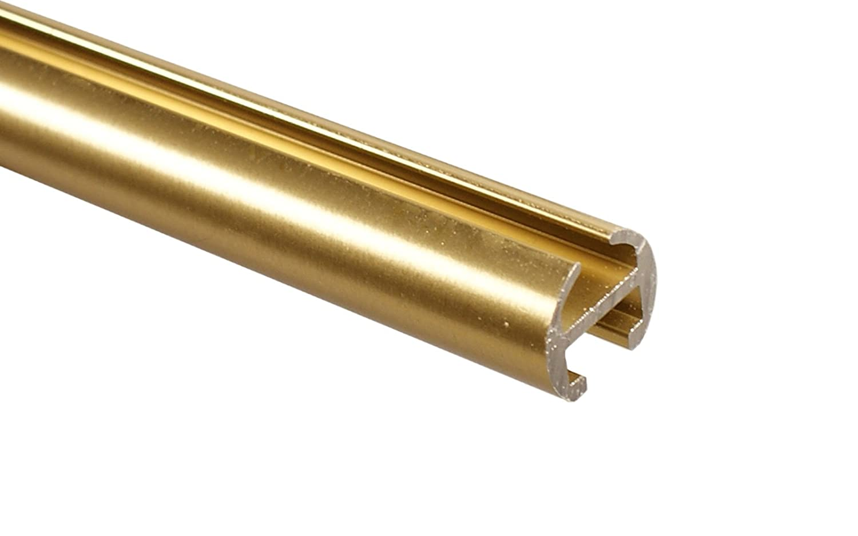 Messing Optik Optik Optik Innenlauf Gardinenstange 2-läufig 16 mm mit Endstück Kugel, 320 cm (2 x 160 cm) c4d0c8