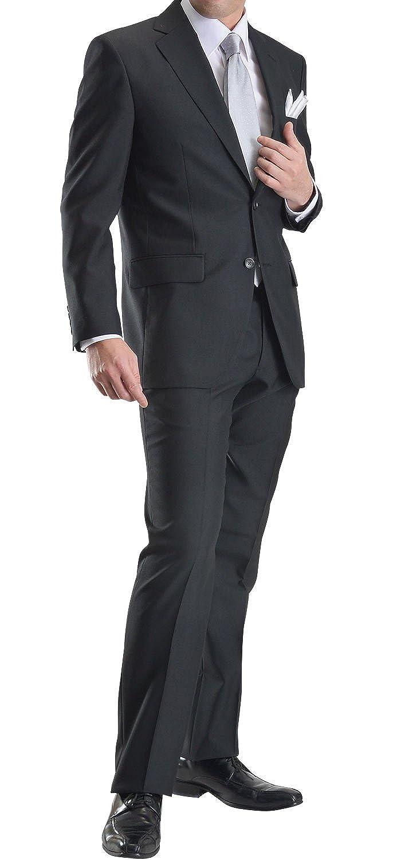 礼服 メンズ 2ツボタン シングル フォーマルスーツ アジャスター付 ウエスト調整機能 ブラックスーツ セレモニースーツ 冠婚葬祭 FORMAL12 B071RYQV49 A-7号