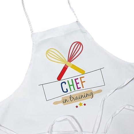 Amazon.com: Colorful – Delantal en la formación Kids Chef ...