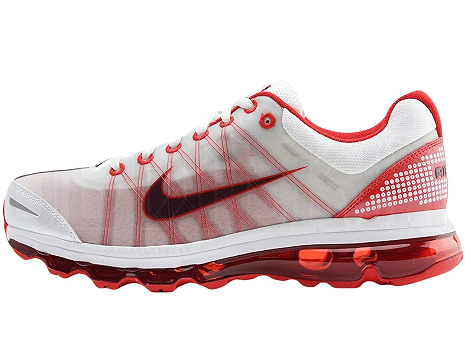 new concept 338d0 de081 Amazon.com   Nike Air Max + 2009 Running Shoes White Sport Red 486978-166    Running