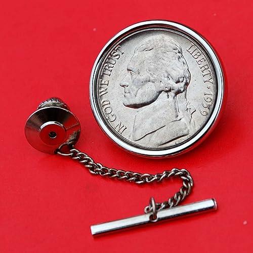 US 1960 Roosevelt Dime Gem BU Uncirculated 90/% Silver 10 Cent Coin Cufflinks NEW