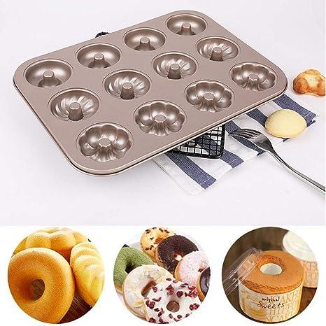 Cakes Mould TAOtTAO 12 Rejillas Molde de Madera de castaño Bandeja para Hacer Pasteles de Donut
