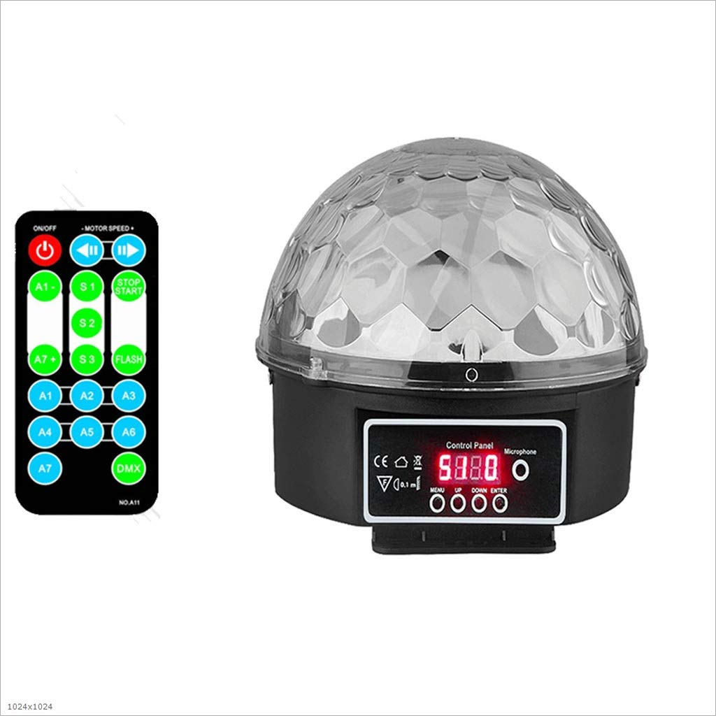 RXY-(^_^) Magic Lamp Party Strobe DJ Lights Voice Control LED Projection Ambient Light