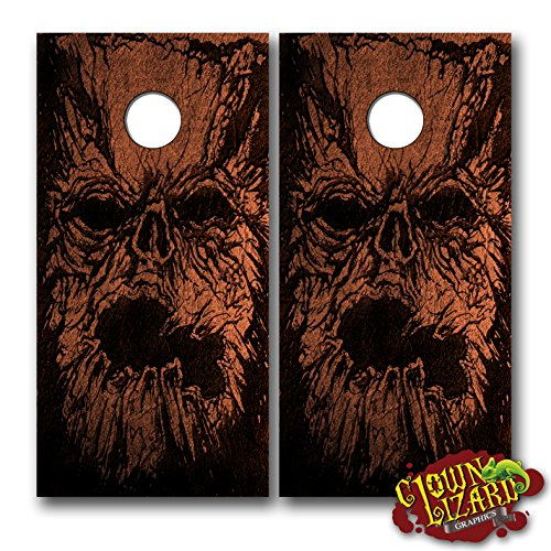 CL0050 Necronomicon CORNHOLE LAMINATED DECAL WRAP SET Decals Board Boards Vinyl Sticker Stickers Bean Bag Game Wraps Vinyl Graphic Image Corn Hole Evil Dead Army of Darkness Ash by Clown Lizard Graphics