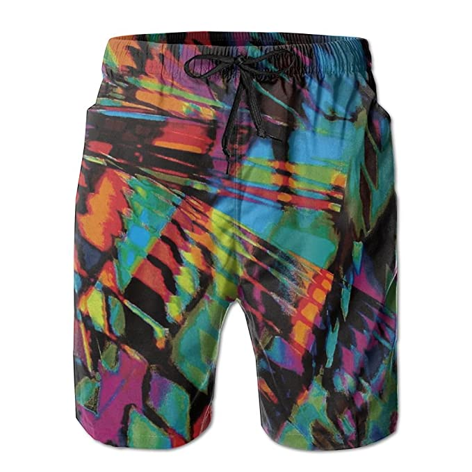 9ad0e127c6 Abstract Print Casual Sport Surfing Boardshorts With Pocket For Men