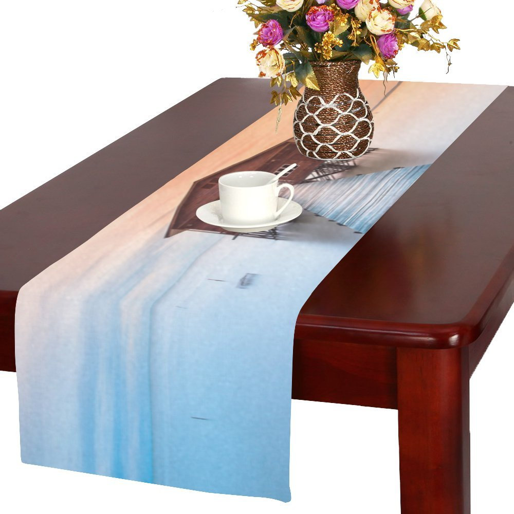 Unique Debora Custom Rectangle Table Linens Table Runners For Wedding And Event with A Wood Building In Nagalang Labuan