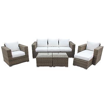 Bentley Natural Lounge con juego de muebles de jardín mesa de café y ...