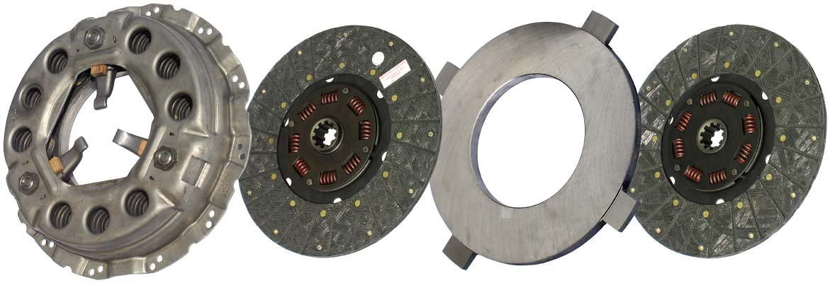 IATCO LP1989-134-IAT 330mm x 1-1/2'' Stamped Steel Clutch (Two-Plate, Push-Type, Organic / 8-Spring, 2000 Plate Load / 525 Torque)