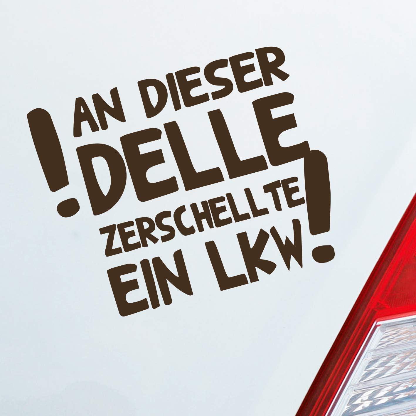 Auto Aufkleber In Deiner Wunschfarbe An Dieser Delle Zerschellte Ein Lkw Fun Dub Oem 12 5x10 Cm Autoaufkleber Sticker Auto