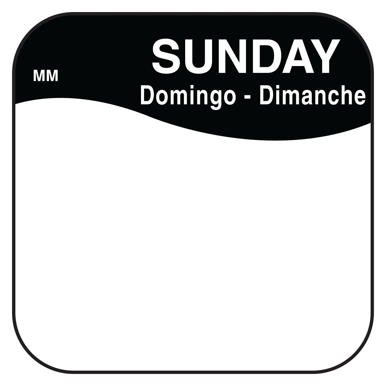 """DayMark Day of the Week 3/4"""" x 3/4"""" Removable"""