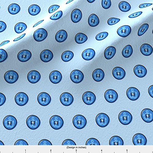 Spoonflower Navy Fabric Navy Pea Coat by Anda Printed on Modern Jersey Fabric by the (Modern Peacoat)