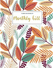 Monthly Bill Planner and Organizer: paycheck budget tracker | 3 Year Calendar 2020-2022 Weekly & Monthly Expense Tracker Organizer For Budget Planner And Financial Planner Workbook | Fall Floral Design