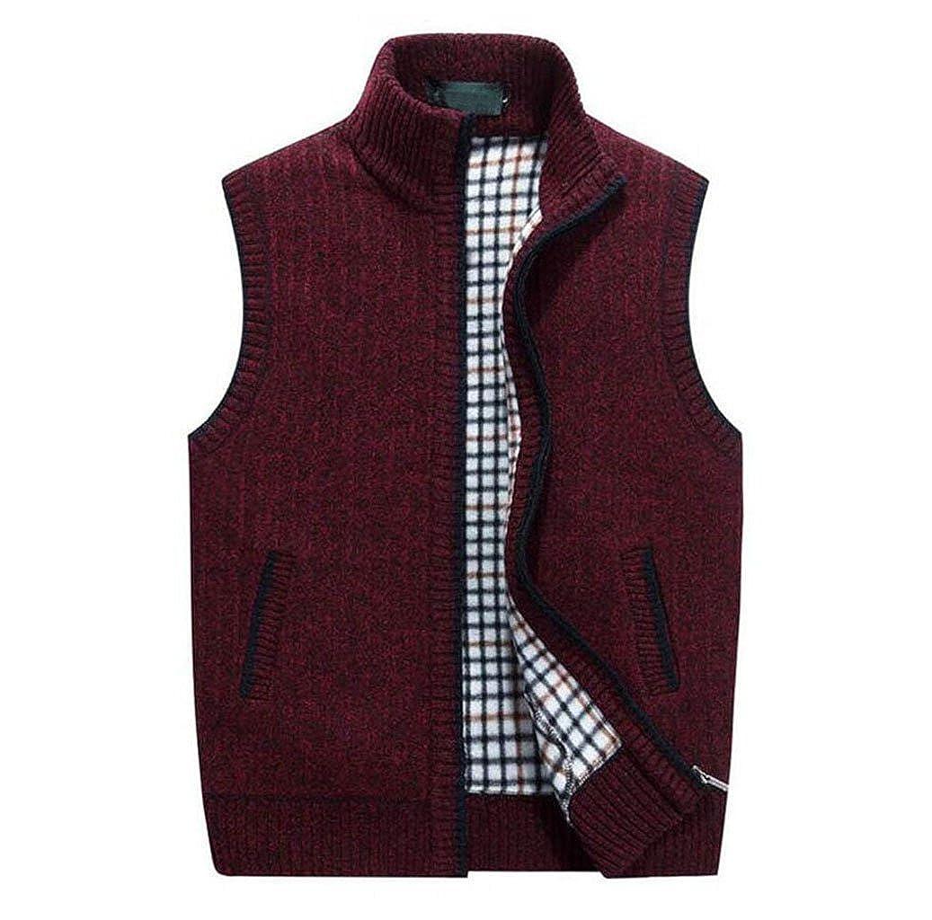 GKKXUE Men's Knitted Wool Vest,Fall Winter Warm Sweater Vest Father's Birthday Gift Size M to XXXXL GKKXUE factory