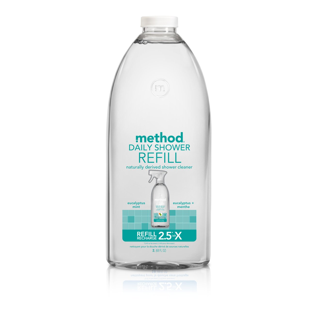 Method Daily Shower Spray Cleaner Refill, Eucalyptus Mint, 68 Ounce