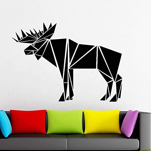 jiushizq Bull Elk Calcomanía con el Cuerpo Completo Animales ...