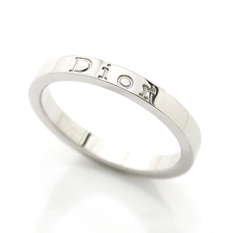 クリスチャン ディオール ロゴ リング #52 Pt950 プラチナ Christian Dior 【証明書付き】【中古】 90046242 B07CYMMLRC