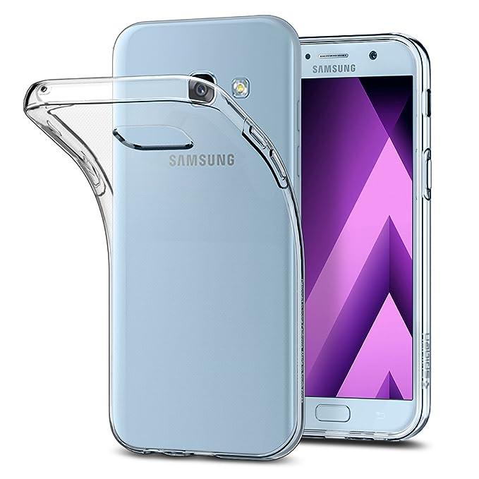 Spigen [Liquid Crystal] Samsung Galaxy A5 2017 Hülle, Transparent Silikon Handyhülle Passgenau Kratzfest Durchsichtige Schutz