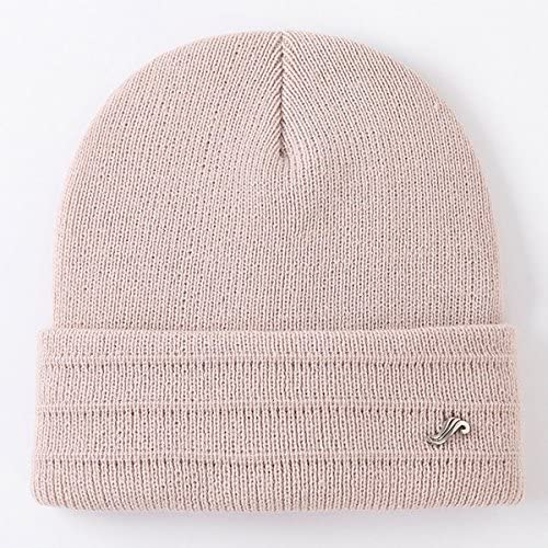 Aroglda Phase Mens Winter Warm Solid Knitted Stripe Hat Casual Skullies Beanie Hat Ear Protection Windproof Cap