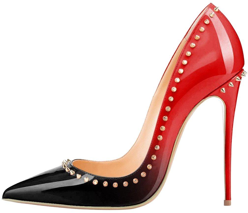 Calaier Mujer Cawash Tacón De Aguja 12CM Sintético Ponerse Zapatos de tacón 35 EU|Varios colores