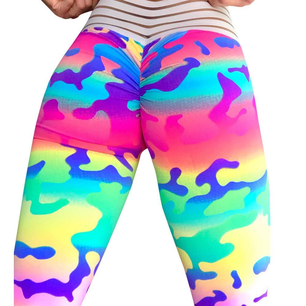 DEELIN Leggings Damen DamenmodeYoga Fitness Leggings Camouflage Leggings Fitness Sport Gym Running Yoga Sporthose