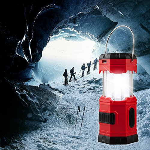 【4 PACK】TANSOREN Solar USB Rechargeable or 3 AA Power Supply LED Camping Lantern Flashlight with DC Charging Line and''S'', Survival Light for Camping, Hiking, Reading, Hurricane, Power Outage by TANSOREN (Image #7)