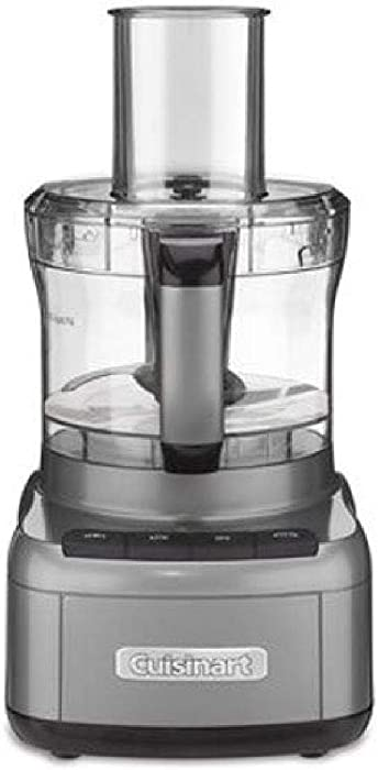 Cuisinart FP-8GMP1 Elemental 8-Cup Food Processor, Gunmetal (Renewed)