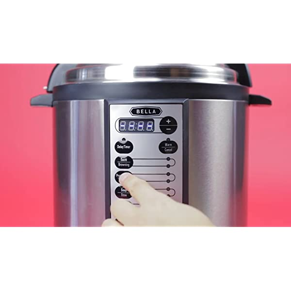 BELLA 10-In-1 Multi-Use Programmable Pressure Cooker, Slow Cooker, Rice Cooker, Steamer, Sauté Warmer with Searing and… 7