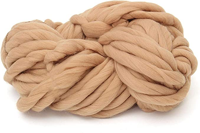 250G Soft Super Thick Big Spinning Roving Bulky Chunky Hand Knitting Ply Yarn US