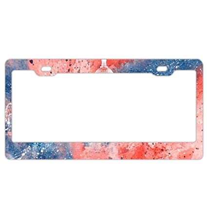 Amazoncom Acrylic Capitol Red White And Blue License Plate