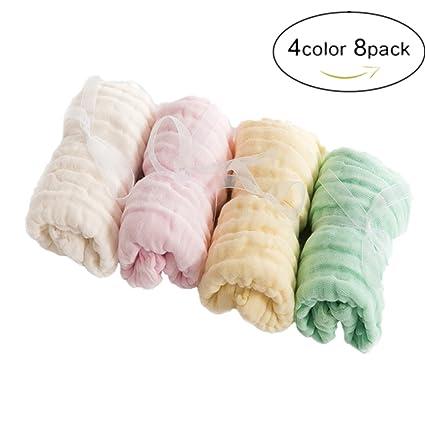 Laifer bebé toallas (8 unidades) muselina toallitas de baño toallitas reutilizable suave bebé recién