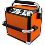 ION Audio iPA30 Audio Job Rocker | Portable Heavy-Duty Bluetooth Speaker with AM/FM Radio (Orange)