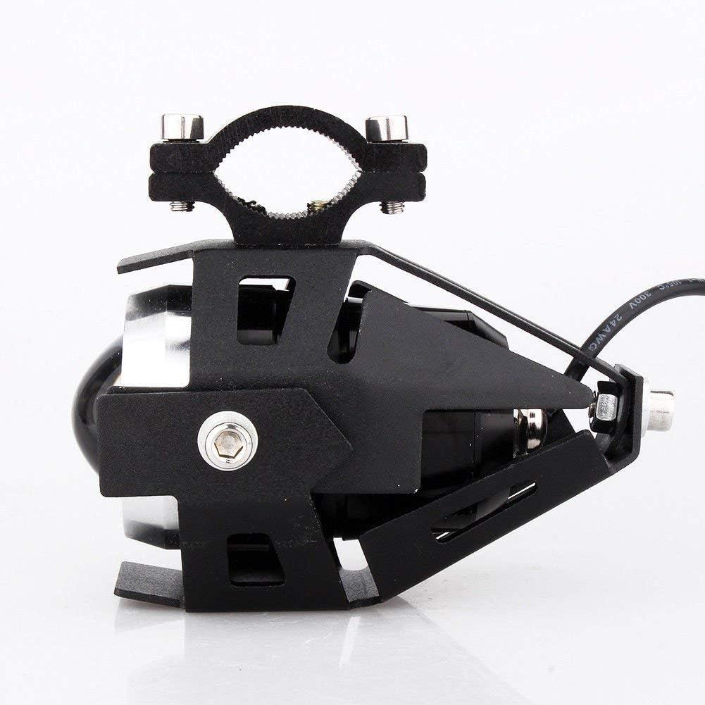 Phares Moto LED Lampe suppl/émentaire Moto U5 LED Phare Antibrouillard avant 125 W 1500 LM LED Moto /Éclairage de v/élo Atv Boot Voiture Moteur /étanche 2 pi/èces