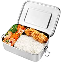 OIZEN Fiambrera de 1200 ml Contenedor de Alimentos de Acero Inoxidable, Bento Box para Niños, Lunchbox Fiambrera…