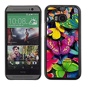 Graphic4You Colorful Butterfly Butterflies Pattern Design Hard Case Cover for HTC One (M8)