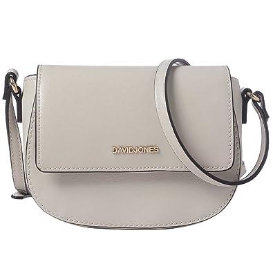 12c48a3883 DAVIDJONES Beige Designer Faux Leather Crossbody shoulder bag Travel Purse  for women
