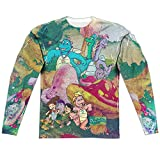 Dragon Tales Playin in Mushroom Meadow Adult Front/Back Print Poly Crewneck