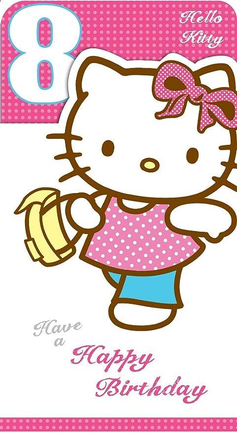 Hello Kitty Carte D Anniversaire 8 Ans Amazon Fr Cuisine Maison