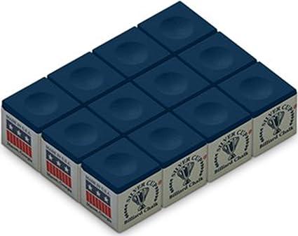 "/""12 cubes/"" Q Chalk billiards chalk One Dozen WHITE Silver Cup Pool Cue Chalk"